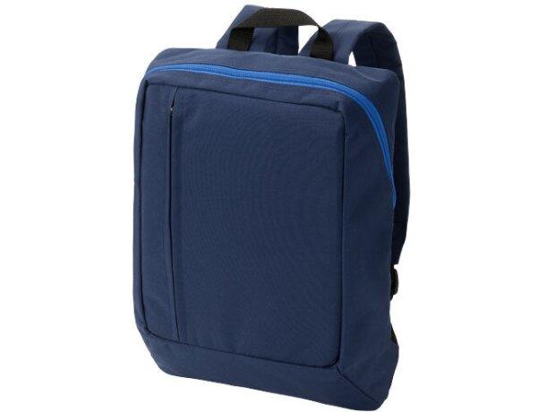 Mochila para portátil y tablet personalizada azul marino