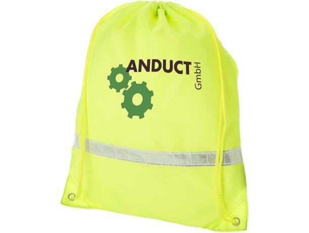 Mochila saco con banda reflectante con logo