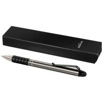 Bolígrafo distinguido con puntero personalizado gris medio