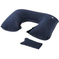 Almohadilla hinchable para cuello personalizado azul marino