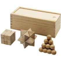 3 Juegos en 1 de ingenio personalizado madera