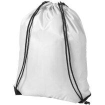 Mochila saco con cuerdas de poliéster 210d blanca