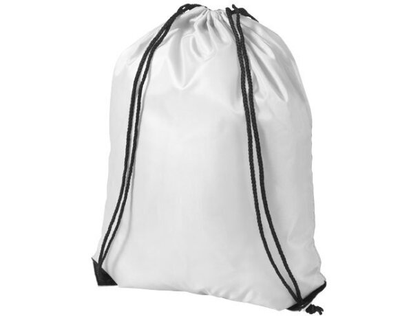 Mochila saco con cuerdas de poliéster 210d personalizada blanca