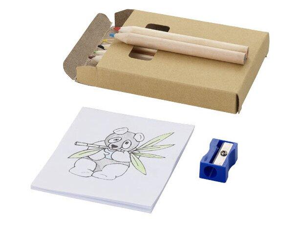 Caja para colorear de 8 piezas personalizada marrón