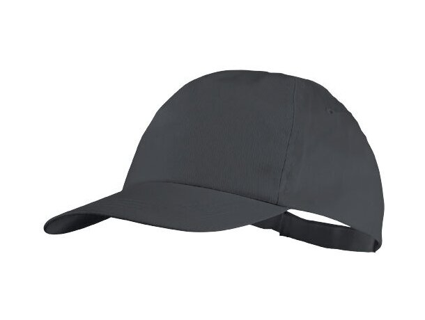 Gorra modelo básico de algodon para adulto con logo gris