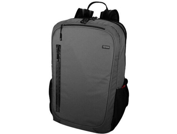"""Mochila poliéster 420d para portátil de 15,6"""" personalizada gris"""