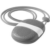 Altavoz mini moderno con cordón personalizado gris