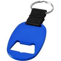 Llavero abrebotellas con cinta personalizado azul medio