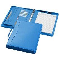 Portafolios con asa tamaño A4 en colores personalizado azul aqua