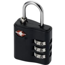 Candado de tres dígitos para equipaje personalizado negro intenso