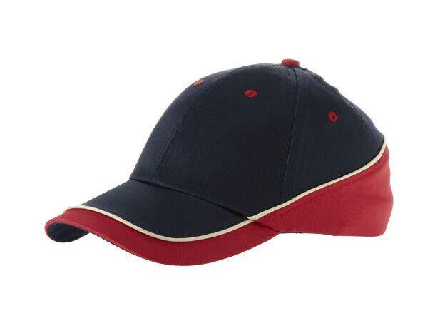 Gorra de diseño en colores combinados personalizada azul marino