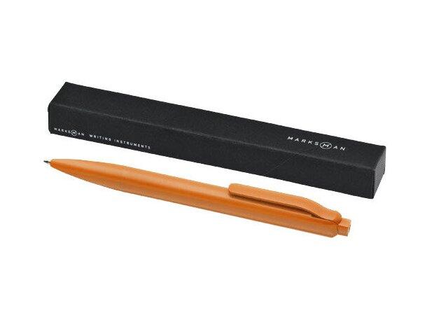 Bolígrafo a color con caja personalizado naranja