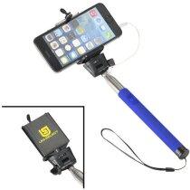 Palo extensible para selfie con soporte azul medio