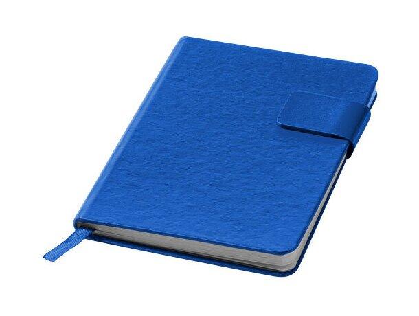 Bloc de notas sencillo y juvenil personalizada azul