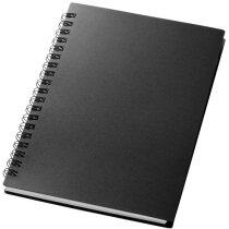 Libreta con 80 hojas de papel rayado grabada negro intenso