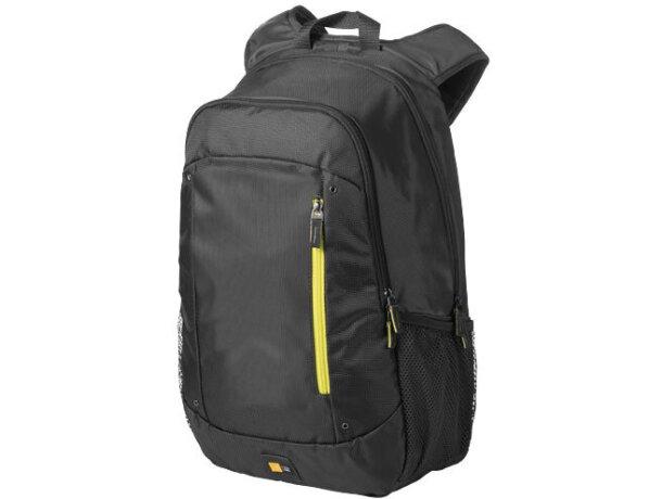 9a92b2f52ca Mochila de nylon para portátil con funda y bolsillos personalizada gris  oscuro