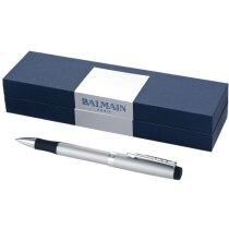 Bolígrafo refinado en metal con estuche personalizado plata