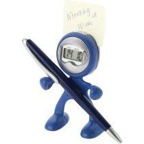 Reloj de sobremesa con despertador marciano personalizado azul marino
