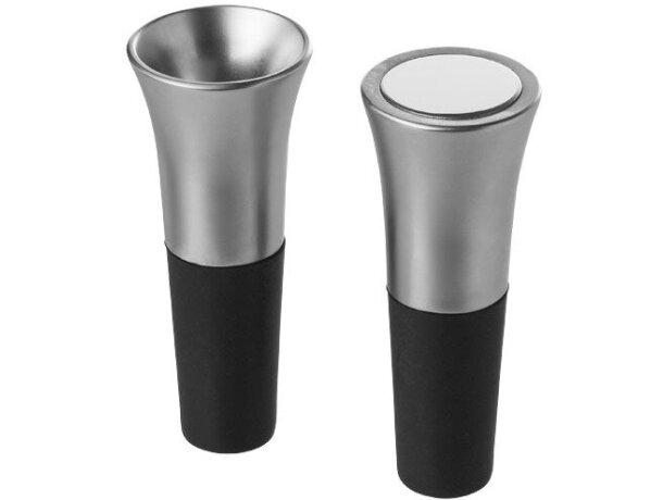 Set de dos piezas de vino de metal personalizado plata