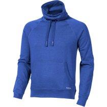 Sudadera con cuello alto ajsutable personalizada azul medio