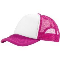Gorra con cierre ajustable y rejilla personalizada rosa
