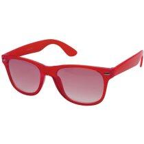 Gafas de sol con lentes de cristal personalizada roja
