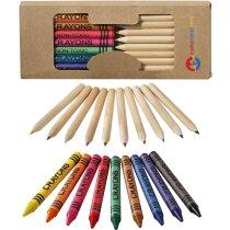 Caja pack de lápices y ceras barata