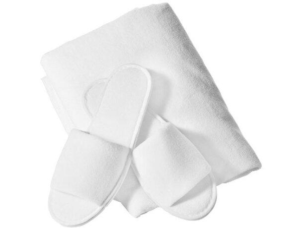 Set de regalo de toalla y zapatillas de hotel