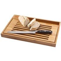 Tabla para cortar con cuchillo de pan personalizada madera