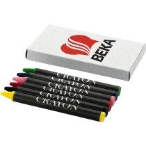 Caja de cartón con 6 ceras personalizado de colores barata