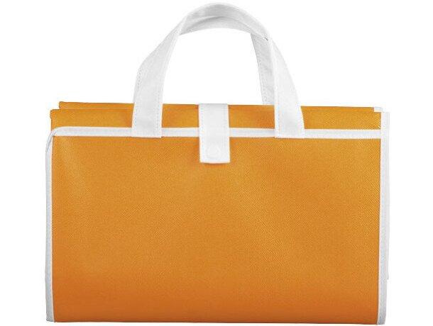 Esterilla de playa plegable con asas dobles personalizada naranja