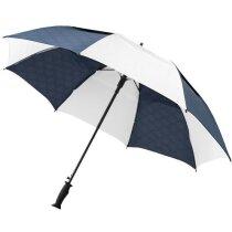 Paraguas automático con ventilación con logo blanco