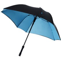 Paraguas modelo cuadrado con colores en el interior con logo negro intenso