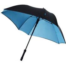Paraguas modelo cuadrado con colores en el interior negro intenso