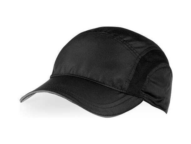 cc76d711623 Gorra técnica para deportistas personalizada negro intenso
