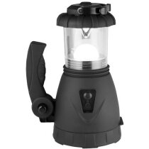 Linterna de dinamo con foco alta potencia personalizada negro intenso