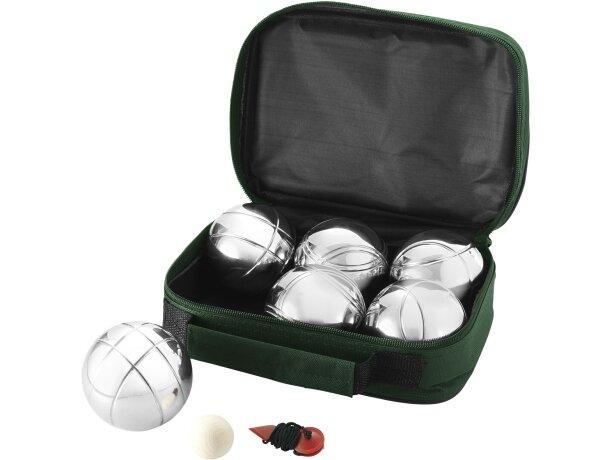 Juego de petanca con 6 bolas personalizado verde