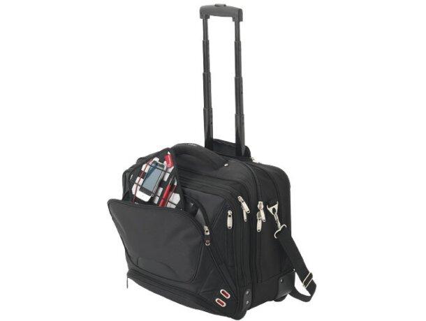 Maletín de nylon para portátil de viaje personalizado negro intenso