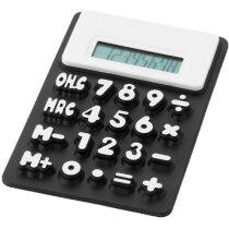 Calculadora flexible con números grandes personalizada negro intenso