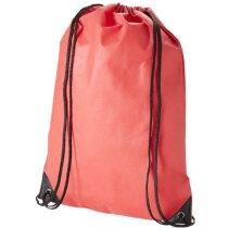 Mochila saco clásica con cuerdas y esquinas reforzadas personalizada roja