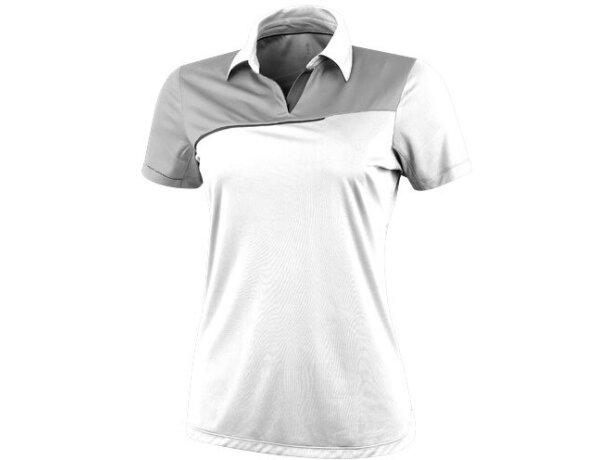 Polo manga corta de mujer prater de Elevate 155 gr original blanco