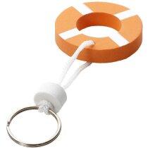 Llavero flotador salvavidas personalizado naranja