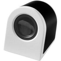 Altavoz pequeño y moderno con batería recargable personalizada negro intenso