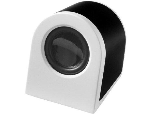 Altavoz pequeño y moderno con batería recargable negro intenso