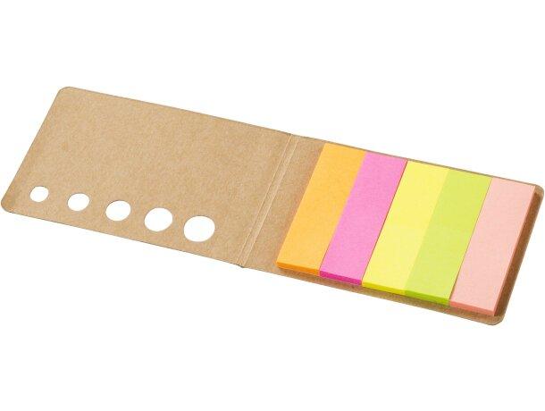 Notas adhesivas con cubierta personalizada blanco roto