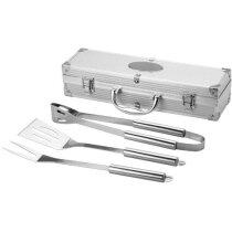 Set de barbacoa de 3 piezas personalizado plata