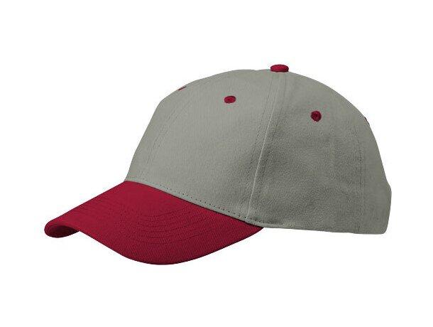 Gorra de 6 paneles y detalles de color personalizada gris