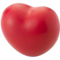 Antiestrés modelo corazón color rojo personalizado rojo