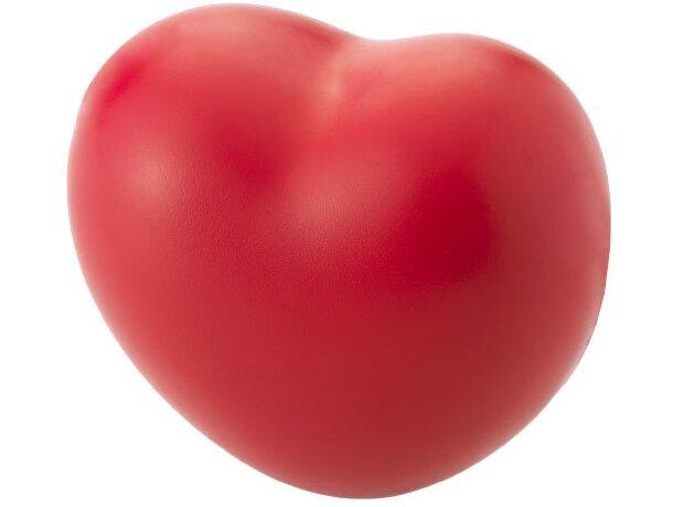 Antiestrés modelo corazón color rojo personalizado