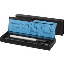 Bolígrafo de metal con 3 funciones personalizado plata